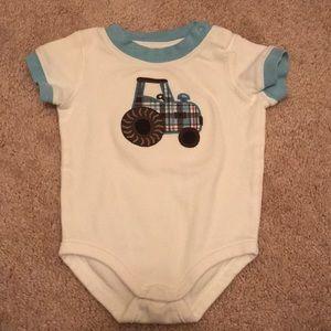 Gymboree tractor onesie